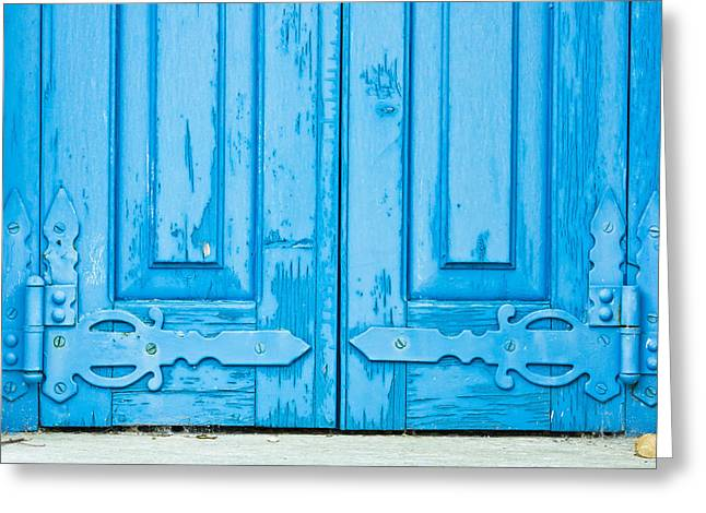 Old Window Shutters Greeting Card by Tom Gowanlock
