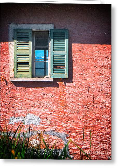 Greeting Card featuring the photograph Old Window With Reflection by Silvia Ganora