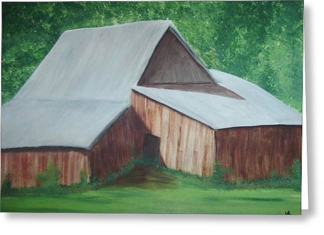 Old Wood Barn Greeting Card by Melanie Blankenship