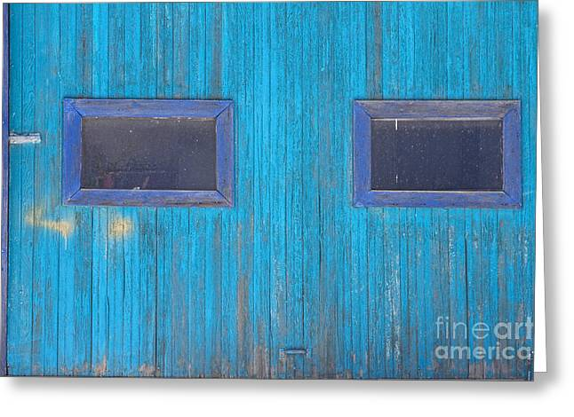 Old Wood Blue Garage Door Greeting Card by James BO  Insogna