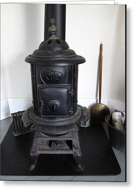 Old Wood Stove Greeting Card