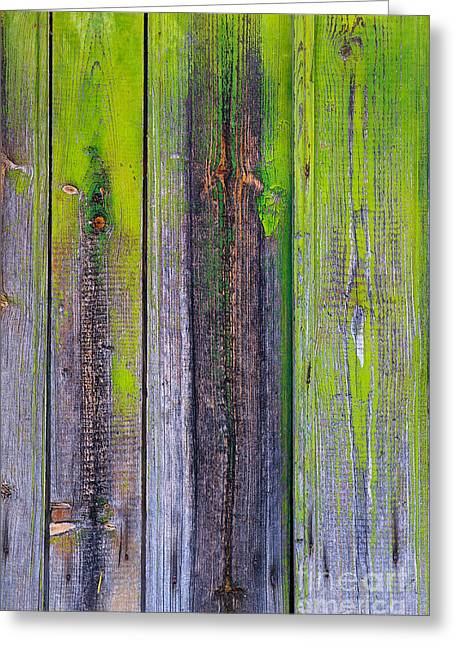 Old Wooden Background Greeting Card by Carlos Caetano