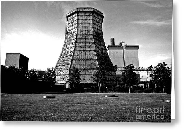 Old Wooden Cooling Tower Greeting Card by Andy Prendy