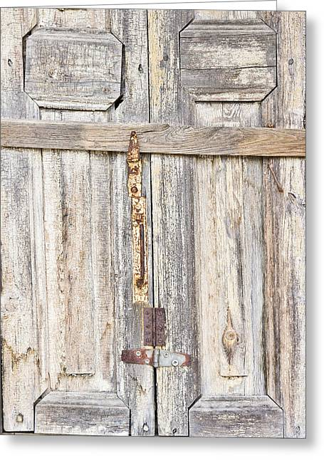 Old Wooden Doorway Greeting Card by Tom Gowanlock