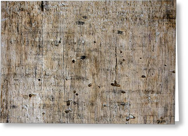 Old Wooden Plank Close-up Greeting Card