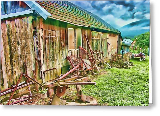 Old Wooden Shed Greeting Card by Roman Milert