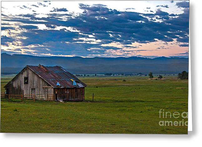 Old Working Barn Greeting Card by Robert Bales