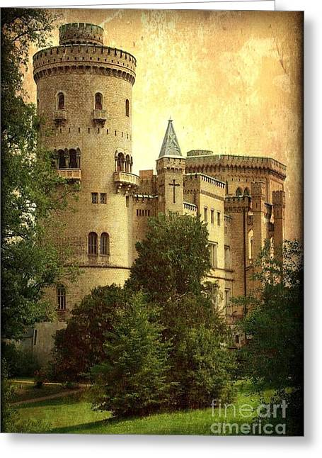 Old World Castle Greeting Card by Carol Groenen