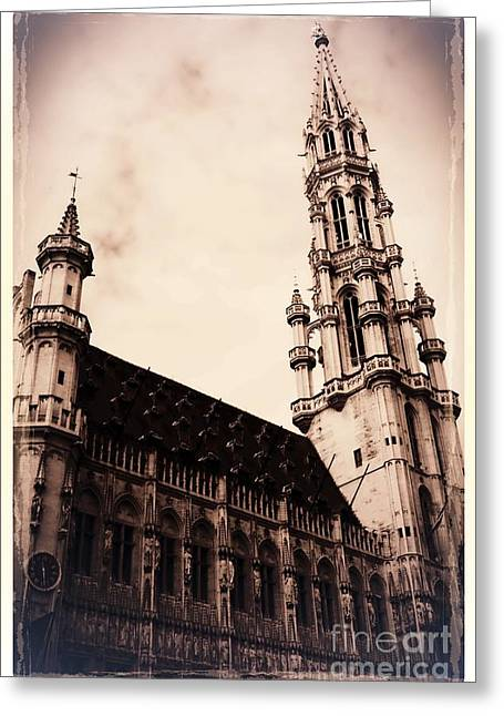 Old World Grand Place Greeting Card by Carol Groenen