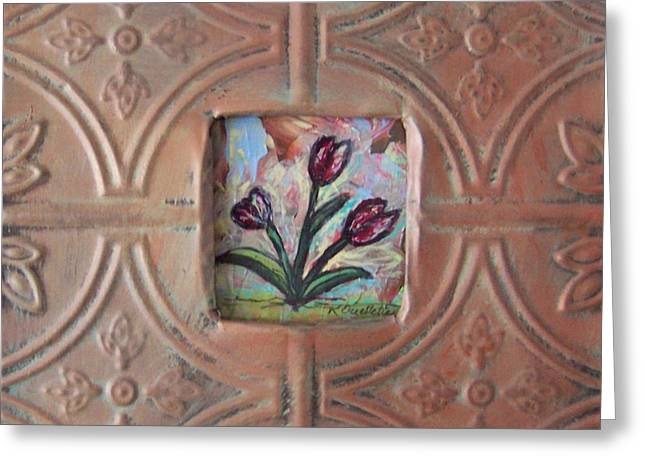 Old World Tulips Greeting Card