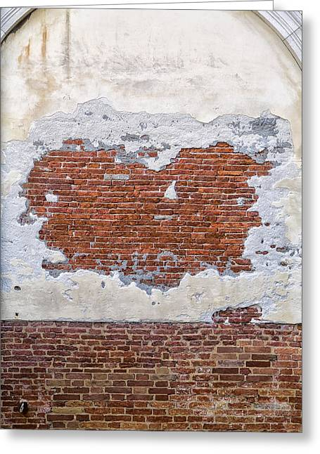 Old Worn Out Wall In Venice Greeting Card by Francesco Rizzato