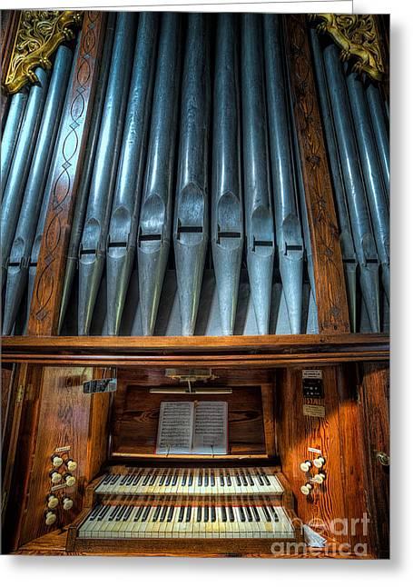 Olde Church Organ Greeting Card