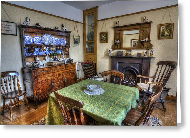 Olde Dining Room Greeting Card by Ian Mitchell