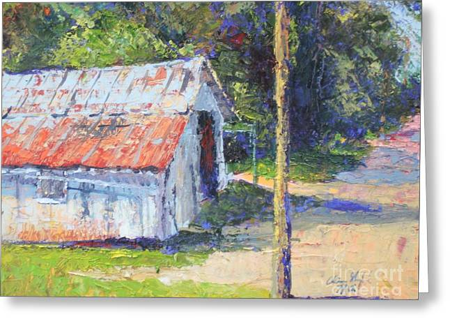 Olde Shed Greeting Card by Chris Shepherd