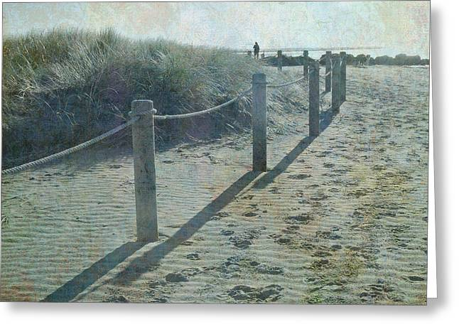 Olde Worlde Beach Greeting Card