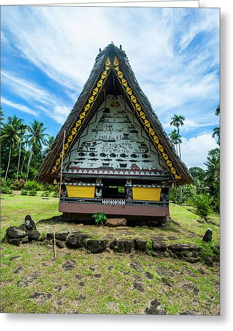 Oldest Bai Of Palau, House Greeting Card by Michael Runkel
