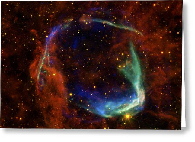 Oldest Recorded Supernova Greeting Card by Adam Romanowicz