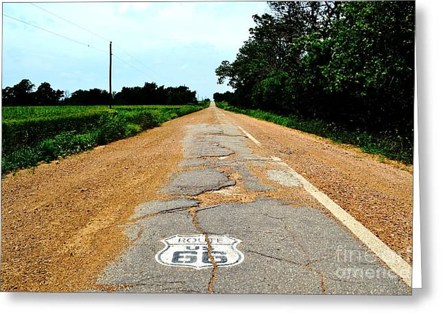 Greeting Card featuring the photograph Oldest Stretch Of Route 66 by Utopia Concepts