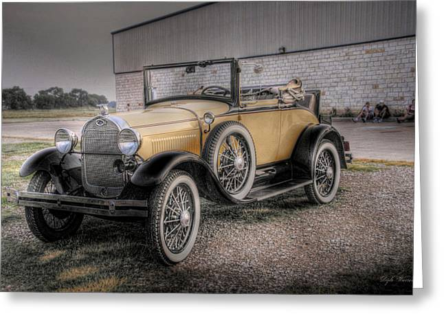 Greeting Card featuring the photograph Old Ford Model A Coupe by Dyle   Warren
