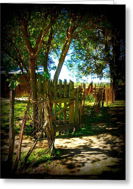 Ole Garden Gate Greeting Card by Sheri McLeroy