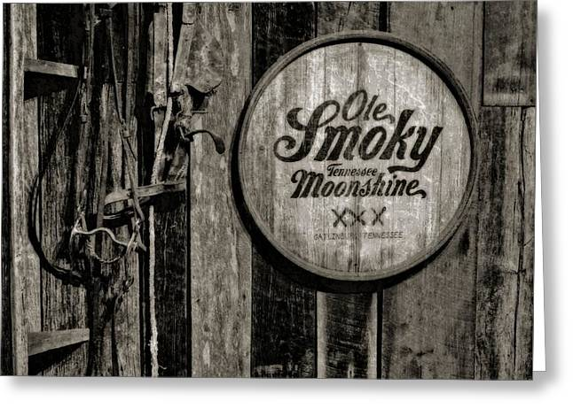 Ole Smoky Tennessee Moonshine Greeting Card by Dan Sproul