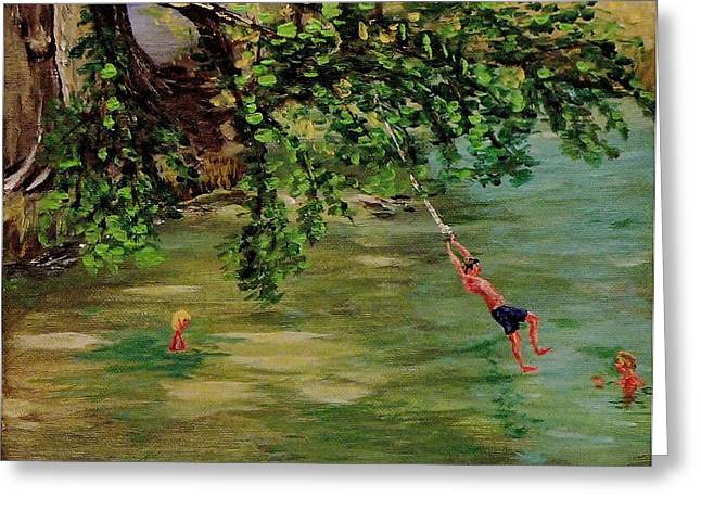 Ole' Swimming Hole Greeting Card