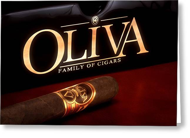 Oliva Cigar Still Life Greeting Card by Tom Mc Nemar