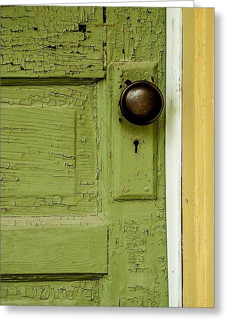 Olive Door Greeting Card