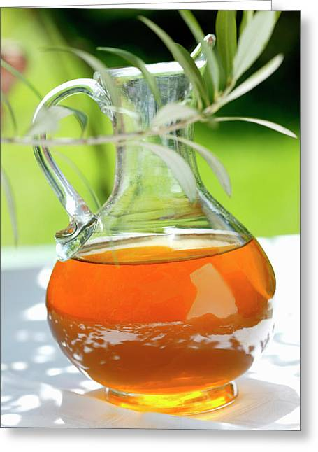 Olive Oil In Carafe Greeting Card