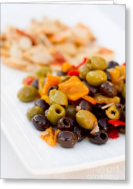 Olive Plate Greeting Card