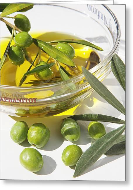 Oliven Und Olivenoel In Einer Greeting Card by Tips Images
