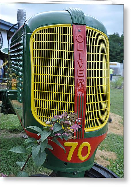 Oliver 70 Row Crop Greeting Card