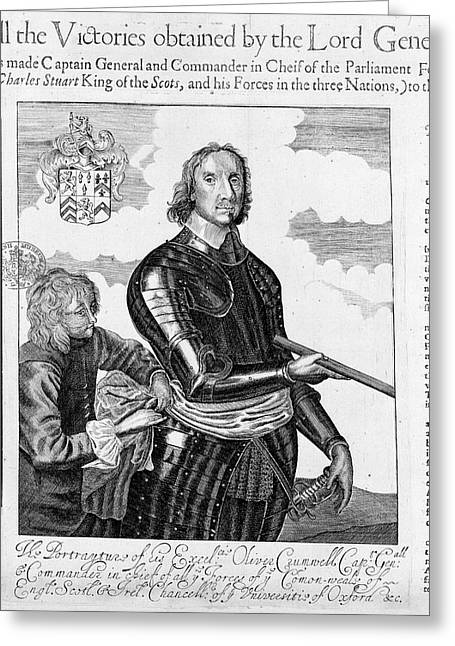 Oliver Cromwell Greeting Card by British Library