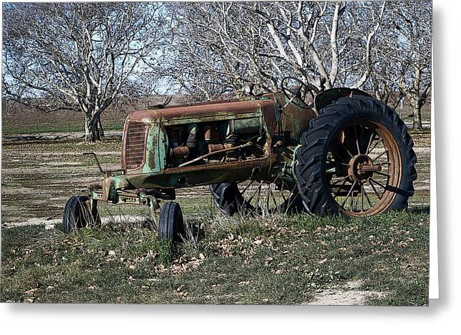 Oliver Farm Tractor Greeting Card