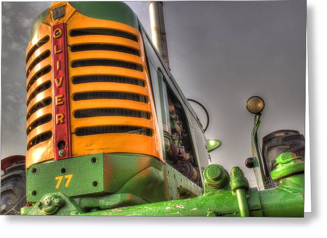 Oliver Tractor Greeting Card by Michael Eingle