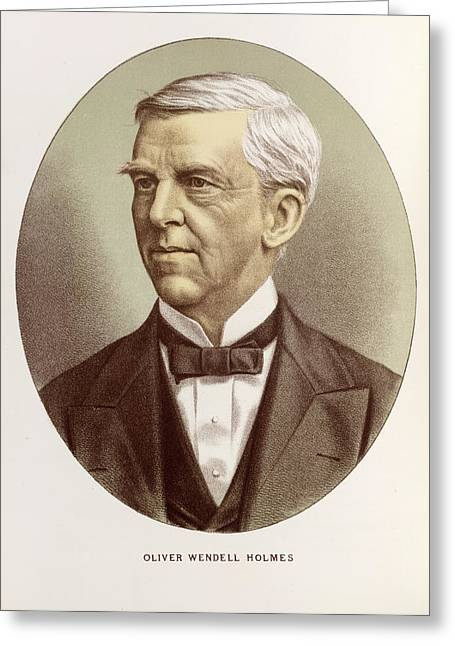 Oliver Wendell Holmes Greeting Card by British Library