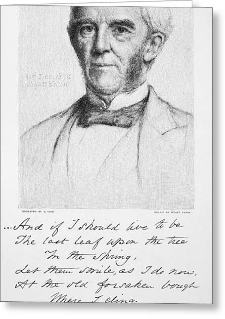 Oliver Wendell Holmes Greeting Card by Granger