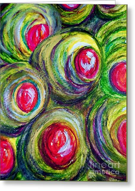 Olives In A Jar Greeting Card by Eloise Schneider