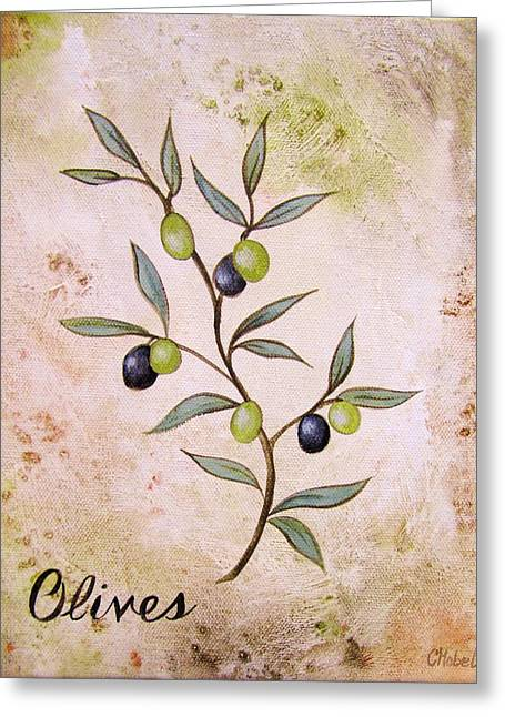 Olives Painting Greeting Card