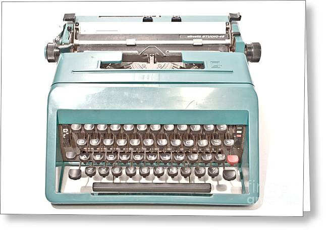 Olivetti Typewriter 1 Greeting Card by Pittsburgh Photo Company