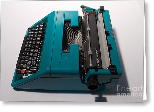 Olivetti Typewriter 10 Greeting Card by Pittsburgh Photo Company