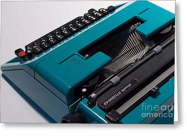 Olivetti Typewriter 11 Greeting Card by Pittsburgh Photo Company