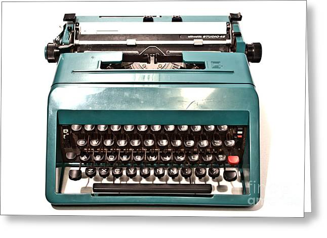 Olivetti Typewriter 13 Greeting Card by Pittsburgh Photo Company