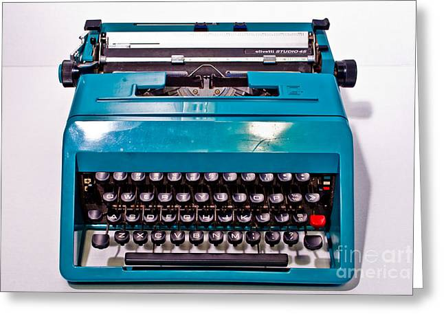 Olivetti Typewriter 2 Greeting Card by Pittsburgh Photo Company