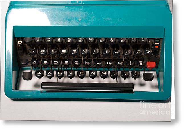 Olivetti Typewriter 4 Greeting Card by Pittsburgh Photo Company