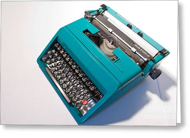 Olivetti Typewriter 7 Greeting Card by Pittsburgh Photo Company