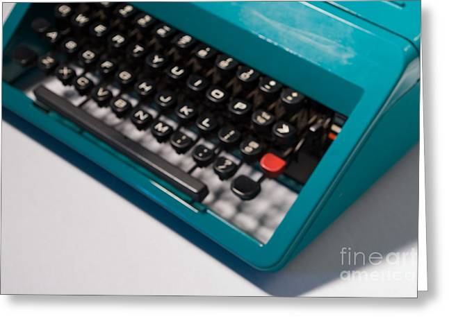 Olivetti Typewriter Soft Focus Greeting Card