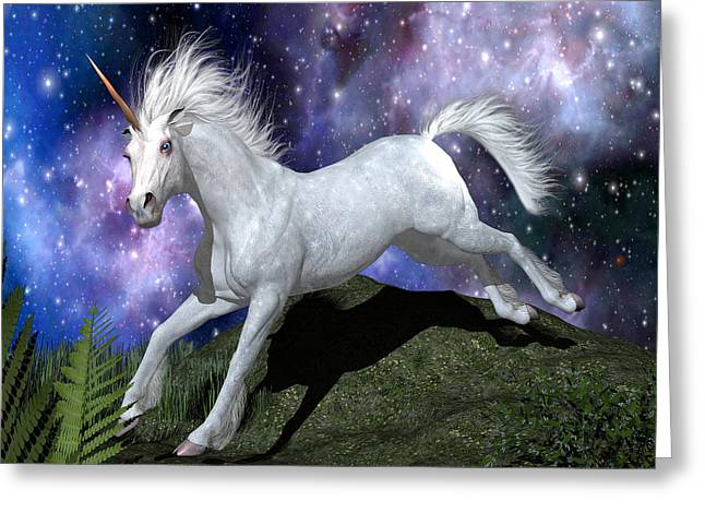 Olivia's Unicorn Greeting Card by Stephen McKim