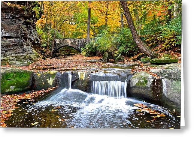 Olmstead Falls Ohio Greeting Card by Frozen in Time Fine Art Photography