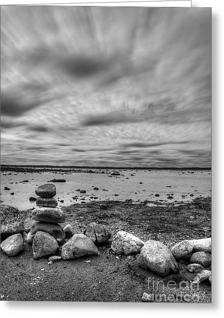Ols Mission Peninsula Shoreline Greeting Card by Twenty Two North Photography